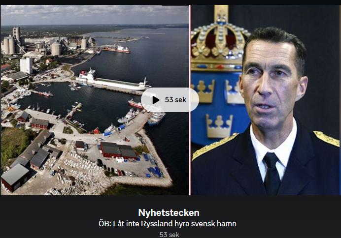 ÖB: Låt inte Ryssland hyra Slite hamn