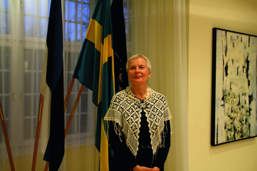 Eesti keele õpetajaid võõrrustanud EV suursaadik Stockholmis Merle Pajula on ka ise hariduselt eesti filoloog