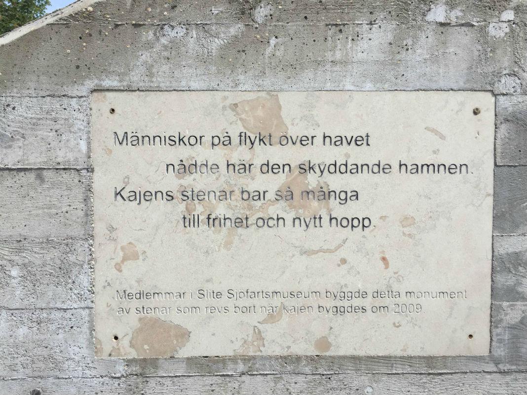 Mälestusmärk Slite sadamas Foto: Sirle Sööt