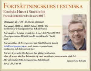 Fortsättningskurs i estniska @ Stockholmi Eesti Maja | Stockholms län | Rootsi