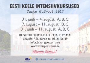 Eesti keele intensiivkursused Tartu ülikoolis 2017 @ Tartu ülikool | Tartu | Tartu maakond | Eesti