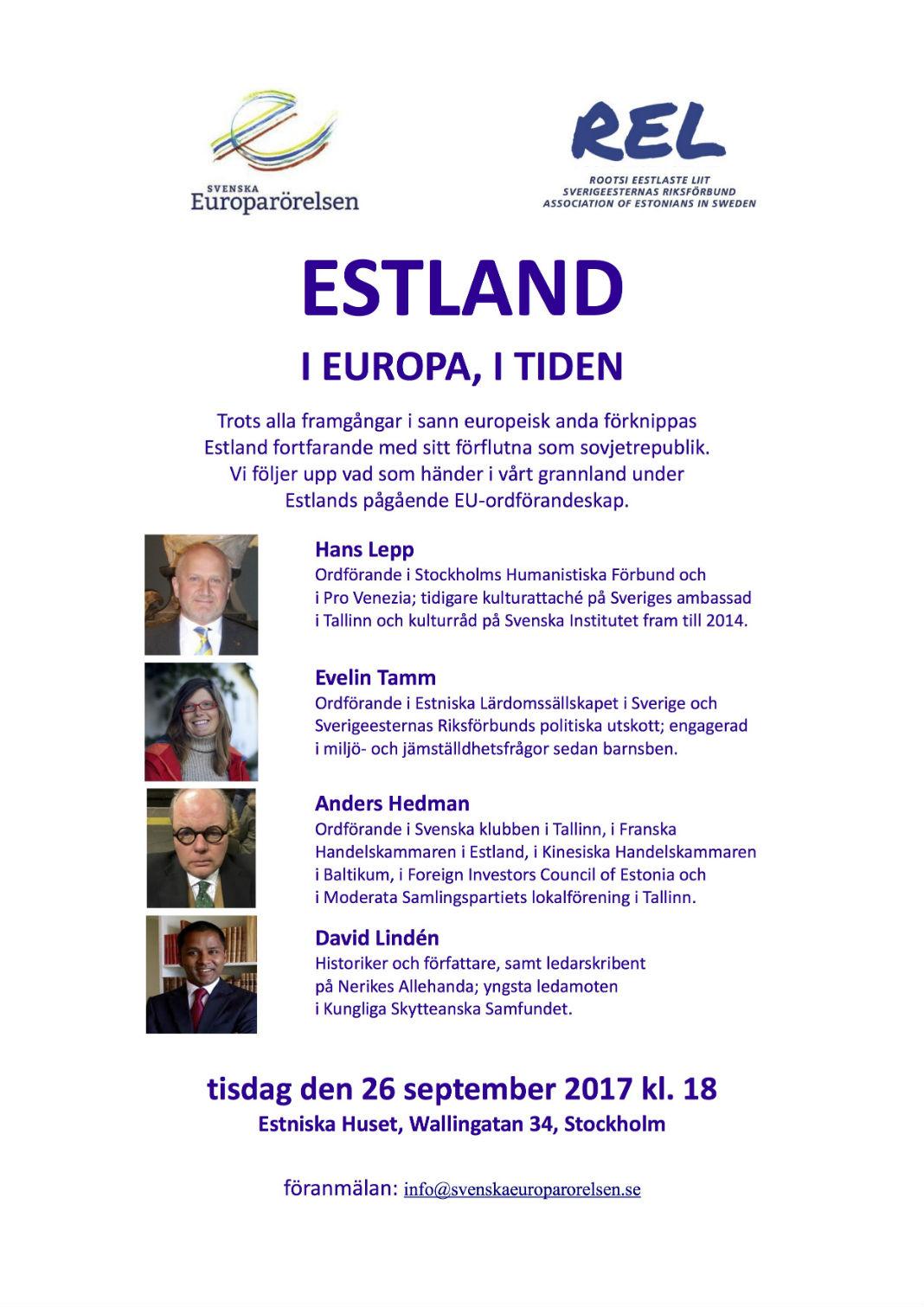 AW #Estland i Europa, i tiden @ Estniska Huset i Stockholm | Stockholms län | Rootsi