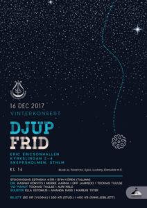 "SES vinterkonsert ""Djup frid"" @ Eric Ericsonhallen | Stockholms län | Rootsi"