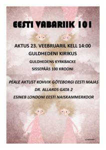 EV aastapäev Göteborgis @ Guldhedeni kirik