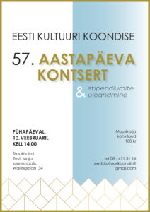 Eesti Kultuuri Koondis 57 @ Stockholmi Eesti Maja