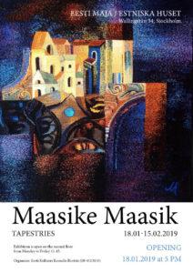 Maasike Maasik tekstiilinäituse avamine @ Estniska Huset i Stockholm