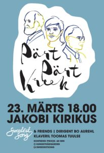 Kontsert Pärt Pärt Kreek @ Jakobi kirik