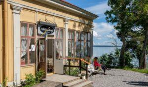 Kohvi suveterrassil (Norrköping) @ Abborrebergs veranda, Norrköping